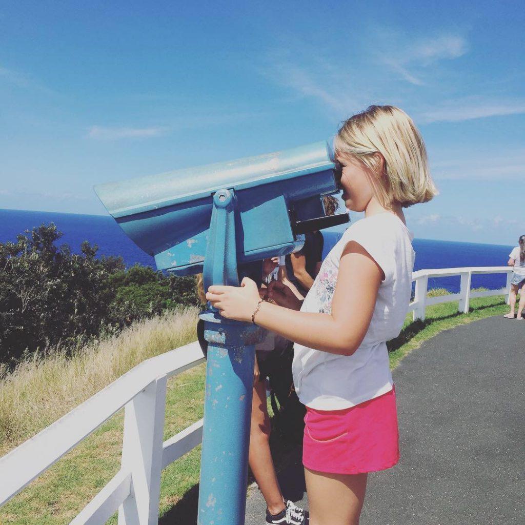 Diane au phare de Byron Bay