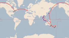 carte de notre itinéraire tour du monde
