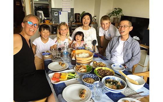 Narumi et sa famille