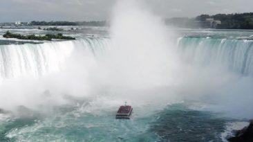 Chutes du Niagara en drône