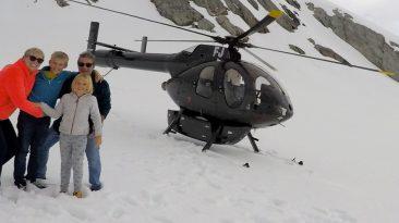 helicoptere nouvelle zélande avec papy mamie franz josef glacier